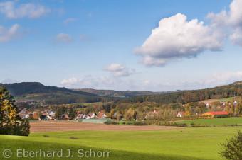 Blick auf Igensdorf und dem Geflügelhof Schubert