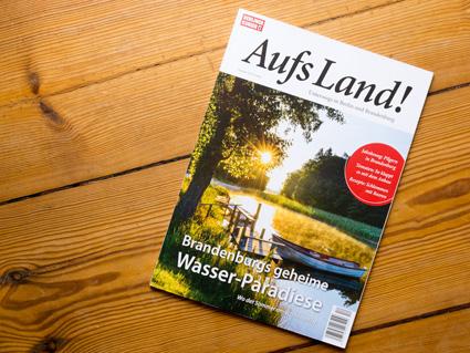 Titel der Zeitschrift Aufs Land mit einem Beitrag zum Biber