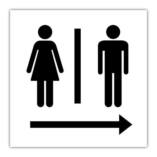Icons für Damen und Herren Toiletten